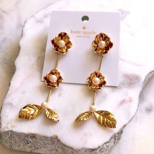 Kate Spade Lavish Blooms Linear Earrings